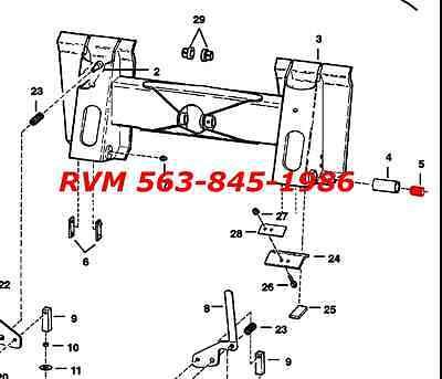 Bobcat Bobtach Repair Bushing 711273b Skid Steer 843 853 1600 2000 2400 2410