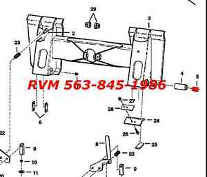 bobcat 843 business industrial bobcat bobtach repair bushing 711273b skid steer 843 853 1600 2000 2400 2410