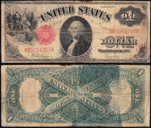 1917 $1 SAWHORSE Legal Tender US Note! FREE SHIPPING! N81054767A