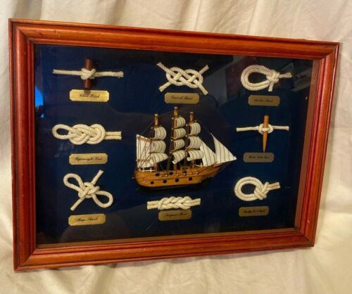 Maritime 3D Knot Shadow box Nautical Framed Picture Wall Art