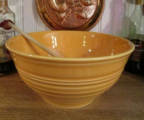 New! Tuscan Farmhouse Large Yellow Ceramic Mixing / Serving Bowl, Portugal