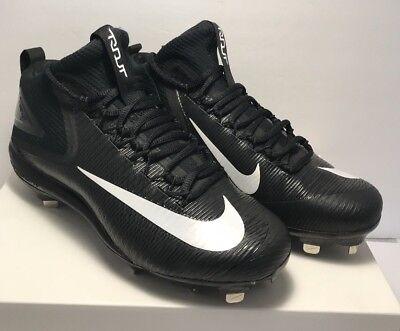 5b8cfec846e Nike Mens Size 8.5 Lunar Vapor Trout 3 Black White Metal Baseball Cleats New