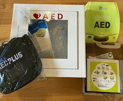Zoll Aed Plus Defibrillator With Carrying Case And Wall Mount Case