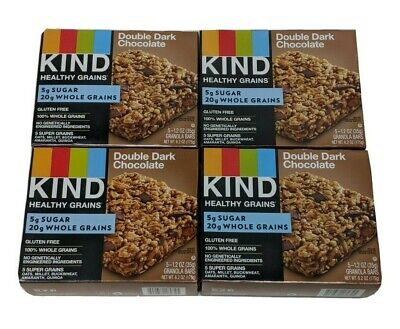 Kind Double Dark Chocolate 4 Boxes (5ct 5X4= 20 Bars) Best it (Best Chocolate Peanut Butter Bars)