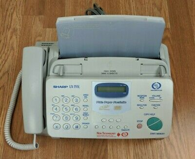 Sharp Ux-355l Heavy Duty Plain Paper Fax Machine Copier Home Office Equipment