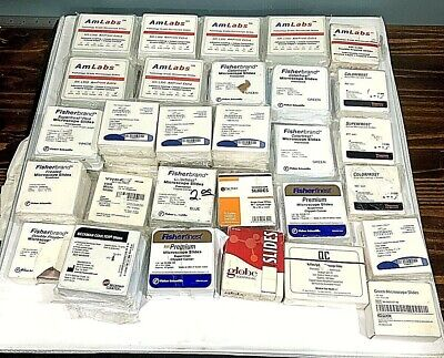 Huge Lot Of Microscope Slides 45 Boxes Variety Will Piece Out