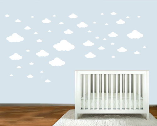 Home Decoration - 24,31 or 45 Clouds Removable Wall Stickers Art Vinyl Decal Home Decor Aus Seller