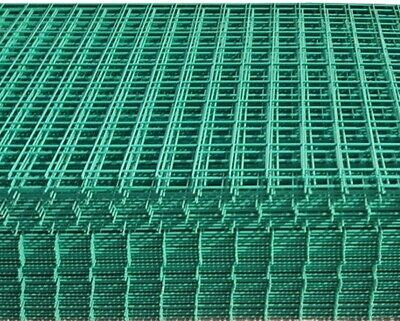 """6x 3x6ft 1"""" Green PVC Coated Welded Wire Mesh Panels"""