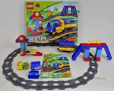 Box Cotruzioni Lego Duplo Ville Set n5608 Treno Stazione Ferrovia Collezione-1E6