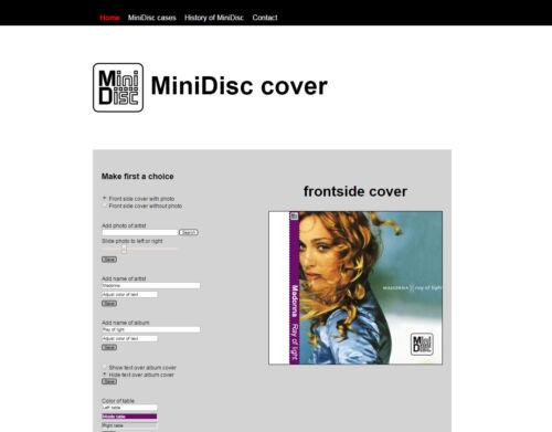 MiniDisc Cover website Membership (subscription) + free empty MD box