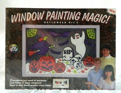 Painted Halloween Pumpkins Patterns (NEW Window Painting Magic Halloween Kit Tempera Paint 3 - 26