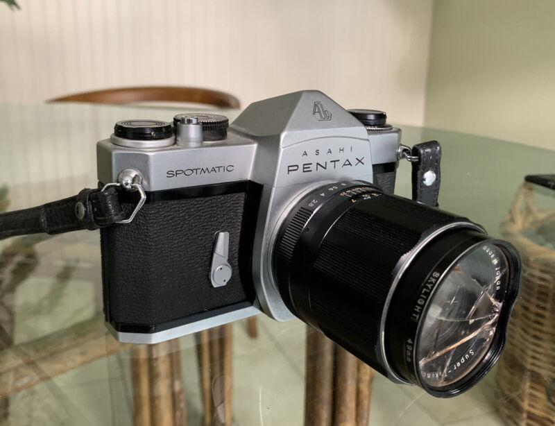 """Near MINT"" ASAHI PENTAX SPOTMATIC SP Silver Body 35mm SLR Firm Camera"