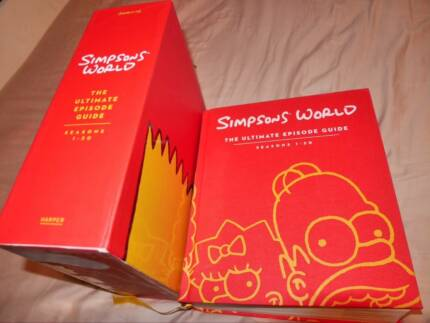Simpsons World Book - The Ultimate Episode Guide Fairview Park Tea Tree Gully Area Preview