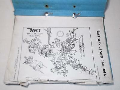 Vintage 24x original BSA C10 / 11 + some M, Bantam SERVICE SHEETS