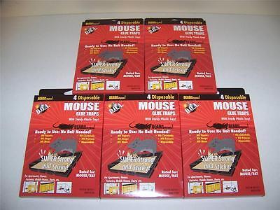 Lot Of 20 Mice Mouse Sticky Glue Traps Trays