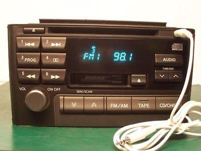 (2000 - 2003 NISSAN MAXIMA BOSE Radio CD Player ADDED AUX INPUT CNB98)