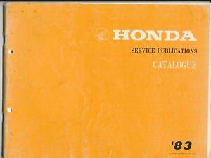 Honda-Service-Publications-Catalogue-83