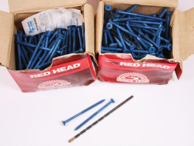 "200 RedHead Tapcon Blue Seal Masonry Tapping Screws 3/16x2 3/4"" Philips Head NEW"