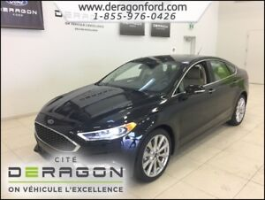 2018 Ford Fusion PLATINIUM AWD + NAVI + LEATHER SEAT +  KEY LESS