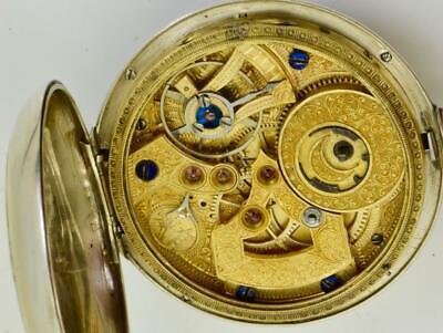 Unique qing dynastie juvet chinois duplex argent & Émail poche montre 1850s