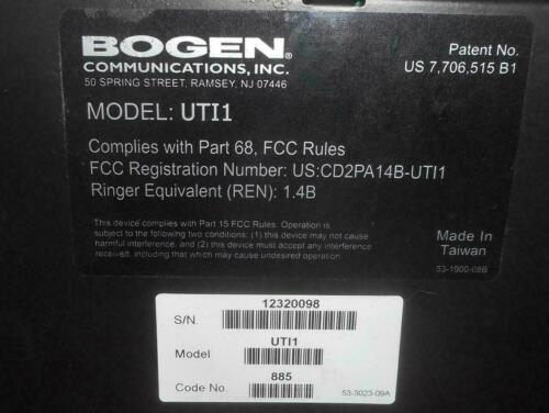 Bogen UTI1 Universal Telephone Interface Single Zone Paging System