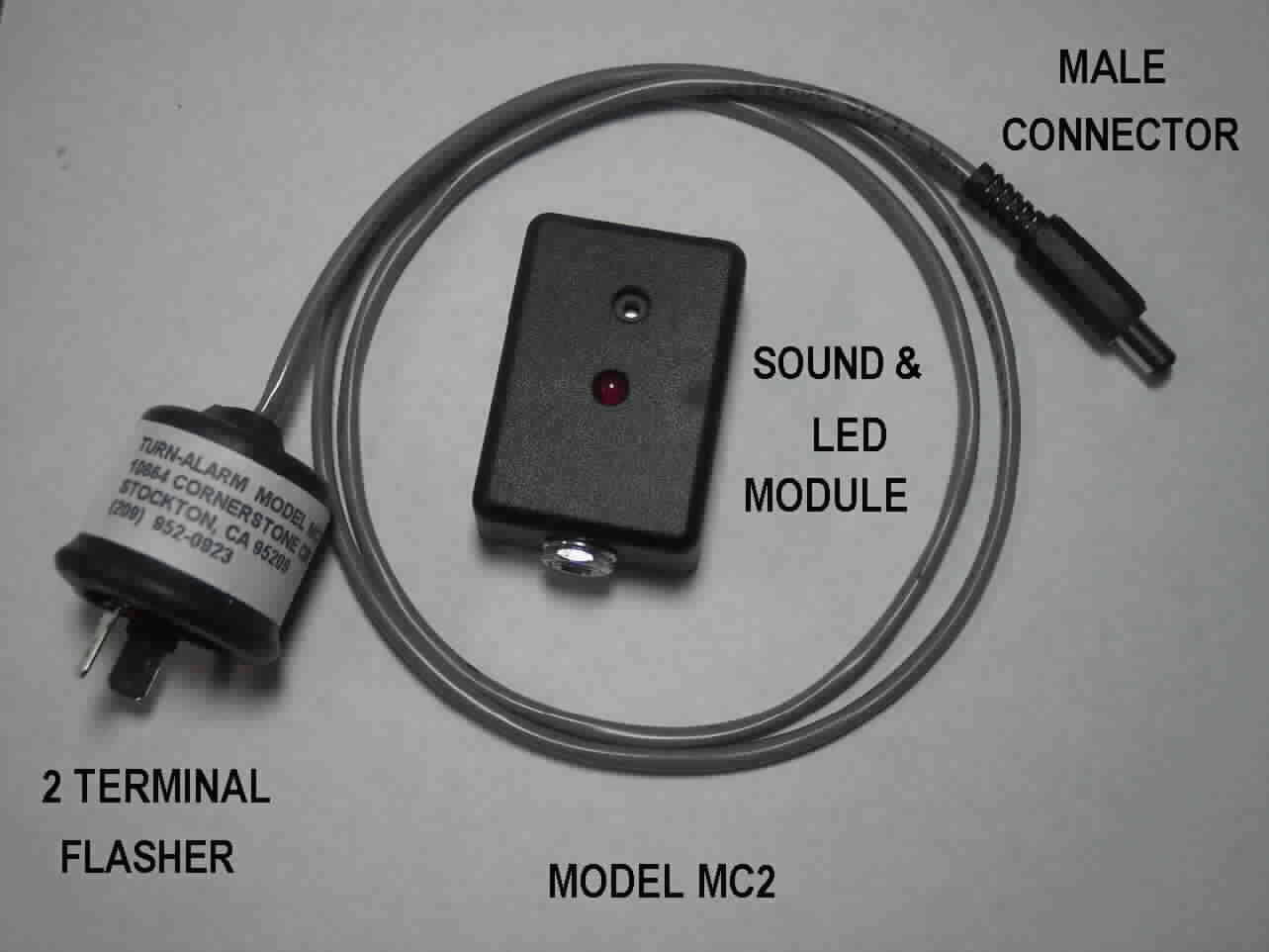 LOUD TURN SIGNAL FLASHER WITH REMOTE SOUND AND LED - MODEL MC-2 - FREE SHIP