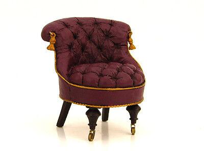 Take A Seat Collectible Miniature Chair SLIPPER CHAIR Lorraine Vail Dollhouse