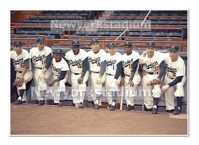 Brooklyn Dodgers Photo - Brooklyn Dodgers- 1956 Color -Maglie, Furillo, Gilliam, Snider, +4 -Ebbets Field