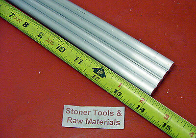 4 Pieces 38 Aluminum 6061 Round Rod 14 Long T6511 .375 Solid Lathe Bar Stock
