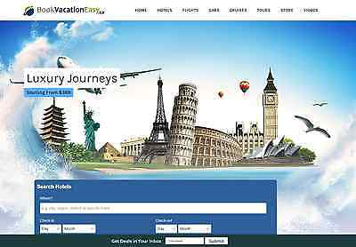 Travel Website Business 100 Automated Full Customization Make 1 -4click