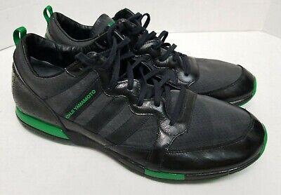 Adidas Yohji Yamamoto Y-3 Black/Green Running Shoes Trainers Men's, Size 11.5