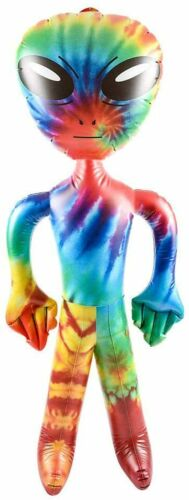 """Alien Tie Dye 36"""" Inch Inflatable NEW Sealed Party Extra-Terrestrial UFO UAP"""