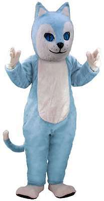 Blue Cat Professional Quality Lightweight Mascot Costume Adult Size