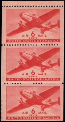 US #C25a MNH EFO: partial plate # showing