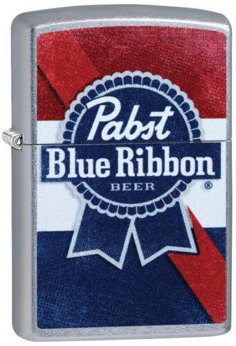 ZIPPO Pabst Blue Ribbon Street Chrome Lighter 49077 **NEW RARE L@@K COOL**