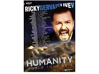 Ricky Gervais Humanity Tour Saturday 7th October