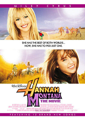 HANNAH MONTANA THE MOVIE MOVIE POSTER 2 Sided ORIGINAL 27x40 MILEY CYRUS on Rummage
