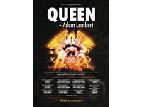 Queen & Adam Lambert Tickets Sheffield Arena 8th Dec 2017