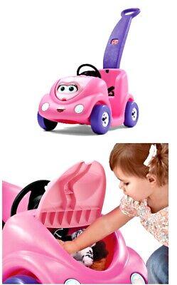 Step2 Toddler Children  Ride On  Car Buggy Push around Toy Pink - Toddler Pink Car