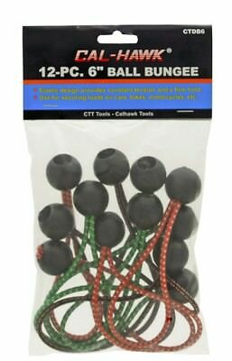 "(36) 6"" Color Ball Bungee Elastic Cord Strap Tie Down Canopy Tarp Cal Hawk Tools"