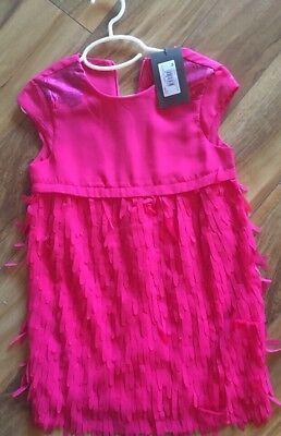 Girls Catimini Dress NWT $173 Size 5A In Hot Pink (Hot Girls In Dresses)