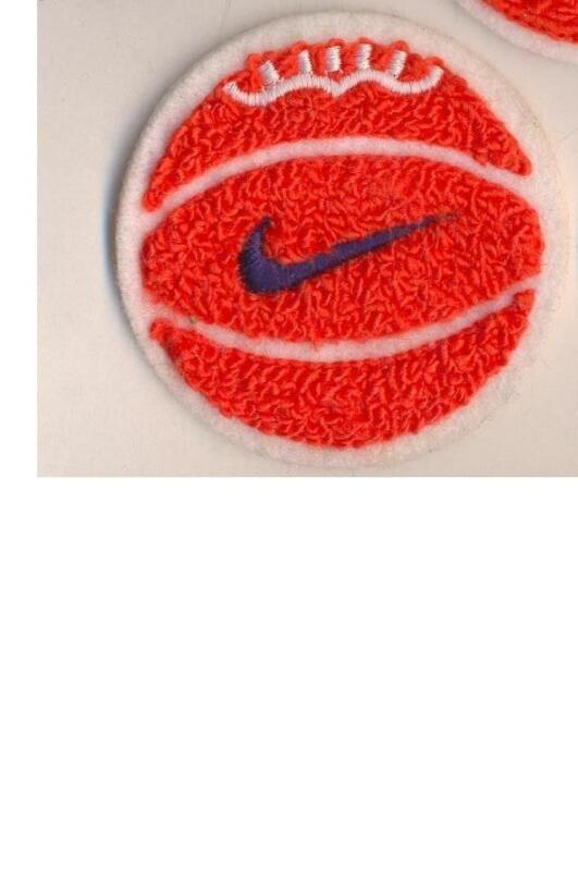 NIKE authentic vintage embroidered  old school chenille  BASKETBALL patch NEW