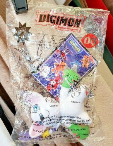 NIP 2002 Digimon Digital Monsters Gatomon #2 Dairy Queen Kids Meal Mini Plush