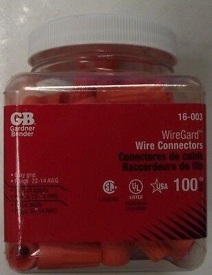 Gardner Bender 16-003 100pk Wiregard Twist-on Electrical Wire Connector Usa
