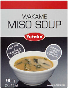 Yutaka Wakame Seaweed Miso Soup 90g Make 5 Servings - Soybean Paste Bonito Kombu