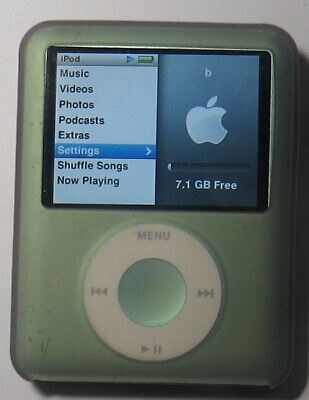 Apple iPod Nano 3rd Generation, Green 8GB NEW BATTERY,