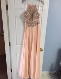 Jovani blush prom dress