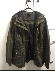 Army green coat,size 8