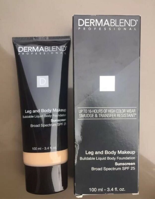 Dermablend Leg & Body Cover SPF 15 Suntan Covers Flaws Tattoos Cover up Makeup
