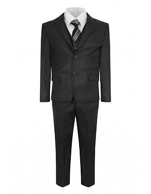 Samli Collection Boys 5 Piece Wedding Page Boy Christening Suit 11 Years Grey Collection Boys 5 Piece Suit